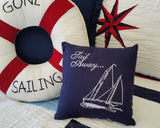 Gone Sailing Life Preserver Pillow