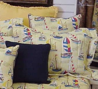 Yellow Sailboat Sham