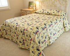 Sailboat Bedspread