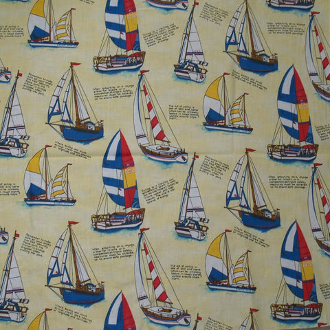 Yellow Sailboat Shower Curtain