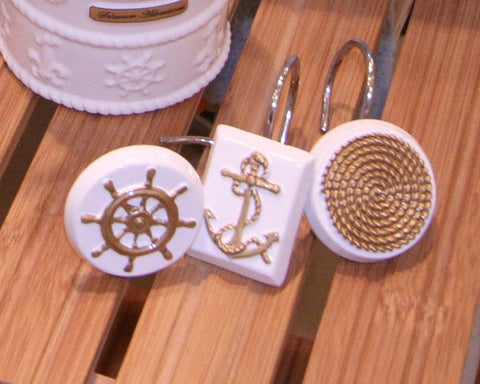 Sailing Set of Shower Hooks