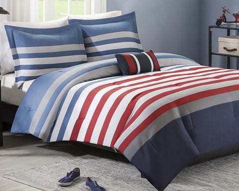 Sailor Stripe Comforter Set plus Pillow