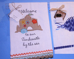 Sandcastle by the Sea Guest Towel