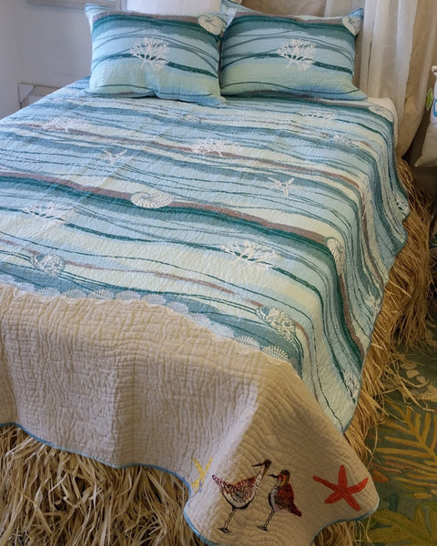 Sandpiper S Beach Quilt Set Ocean To The Sand Beach