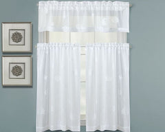 Seaside Lace Tier Pair Curtains