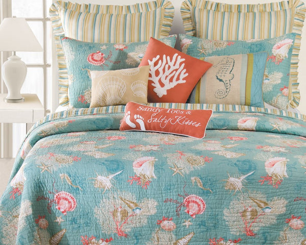 Santa Catalina Shells And Corals Quilt From C Amp F