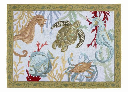 Sealife by Katie McRostie, Hook Rug