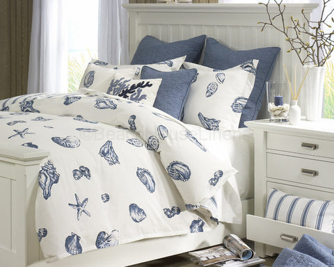 seashell bed sets comforter king bedding neutral ideas