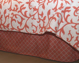 "Coral Lattice 18"" Bedskirt"