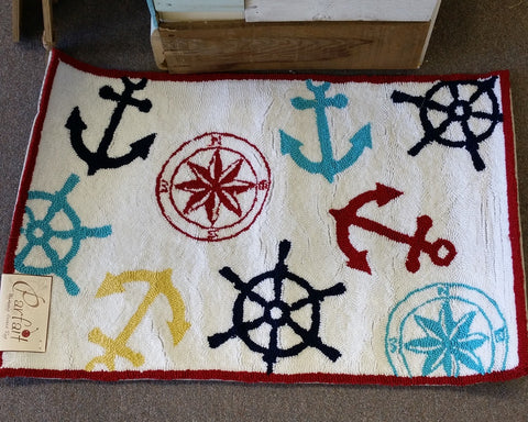 Southwinds Nautical Washable Rug