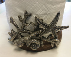 Shells and Starfish Paper Towel Holder