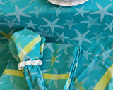 "Starfish Turquoise 60"" Table Topper"