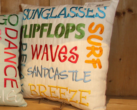 """Sunglasses"" 16"" Embroidered Pillow"
