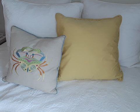 Sundance Piped Yellow Pillow