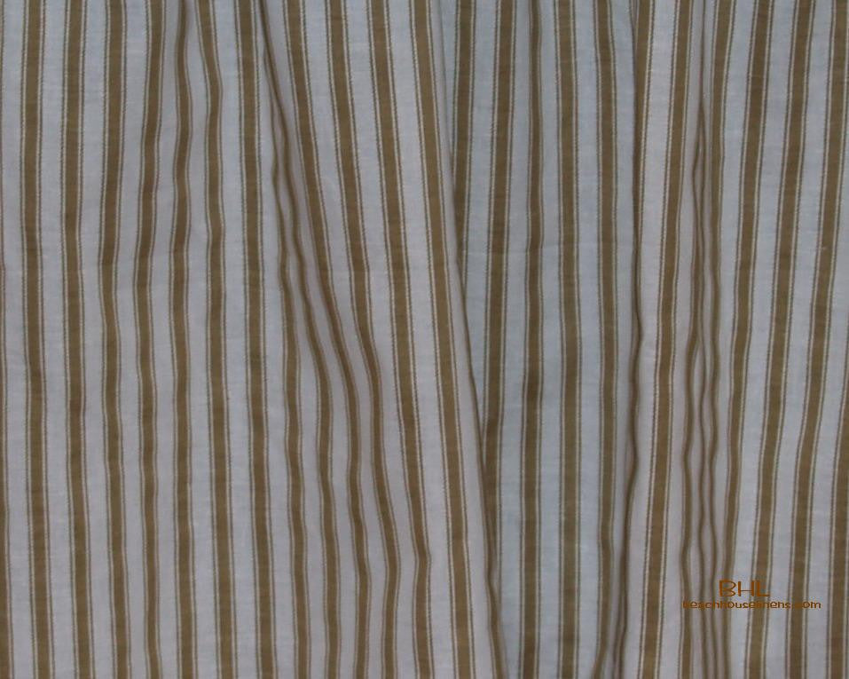 Taupe Ticking Stripe 18 Quot Bedskirt Beach House Linens