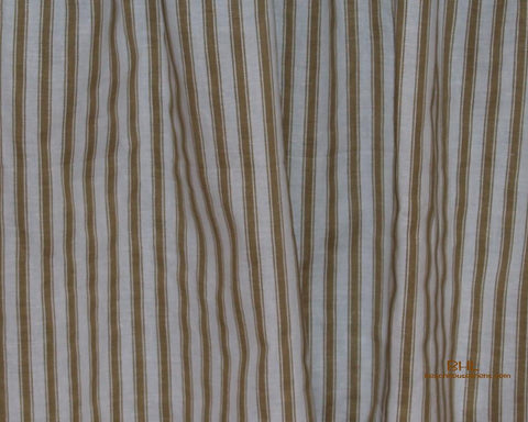 Treasures Tan Ticking Valance