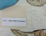 Champagne Bedskirt Swatch with Treasures Tan Quilt