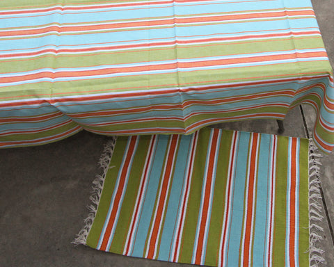 "Lagoon Stripe 60"" Square Table Topper"