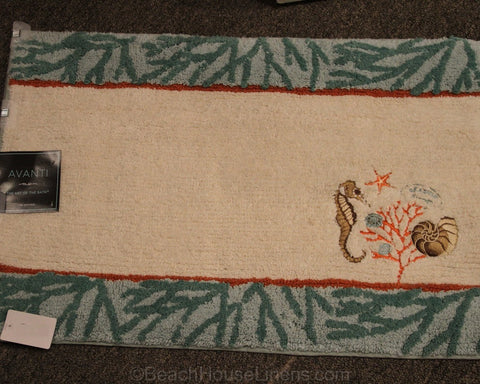 Beach Vintage Embroidered Bath Rug