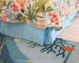 Splish Splash shown with Blue Solid Bedskirt