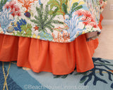 Splish Splash shown with Orange Solid Bedskirt