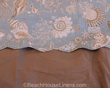 Natural Shells Shown with Taupe Solid Bedskirt