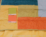 Tropic Escape Quilt with Yellow Solid Skirt
