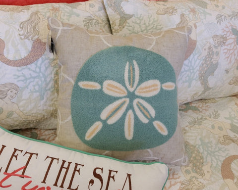Washed Ashore Sanddollar Pillow