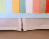 "18"" Pintuck Bedskirt with Washed Away Quilt from C&F Enterprises"