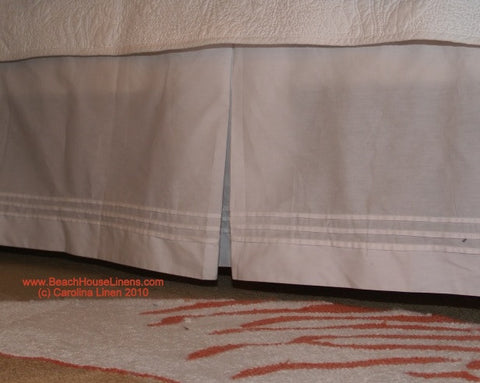 "Pintuck 18"" Tailored White Bedskirt"