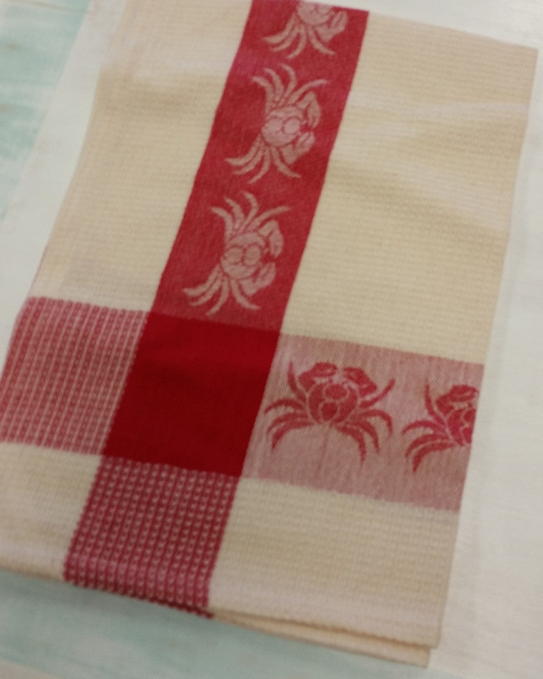 woven crab waffle kitchen towel from Beach House Linens