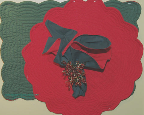 Red & Green Christmas Napkin