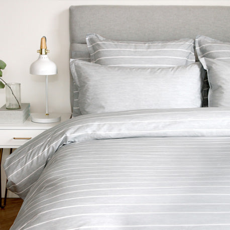 Chambray Silver Duvet Cover