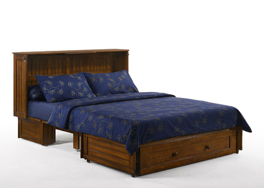 Night and Day Daisy Cabinet Bed in Black Walnut - Opened