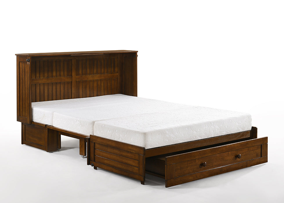 Night and Day Daisy Cabinet Bed in Black Walnut - Opened with Tri Fold