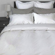 Georgia Stripe Duvet Cover by Cuddle Down in Dove Grey