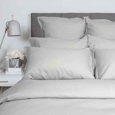 Pique Duvet Cover and Shams featured in Glacier