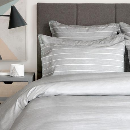 Bedding & Bed Linens - Cuddle Down Chambray Silver