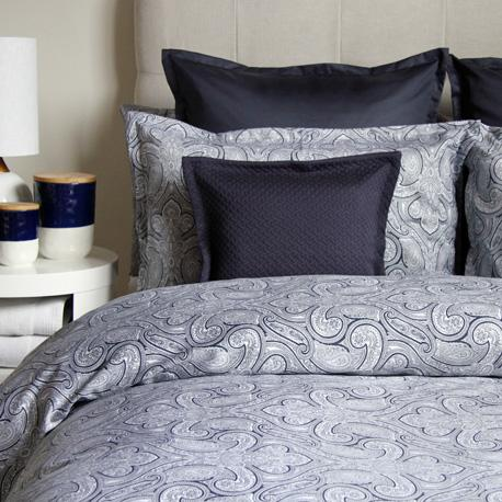 Bedding & Bed Linens - Cuddle Down Paisley Marine