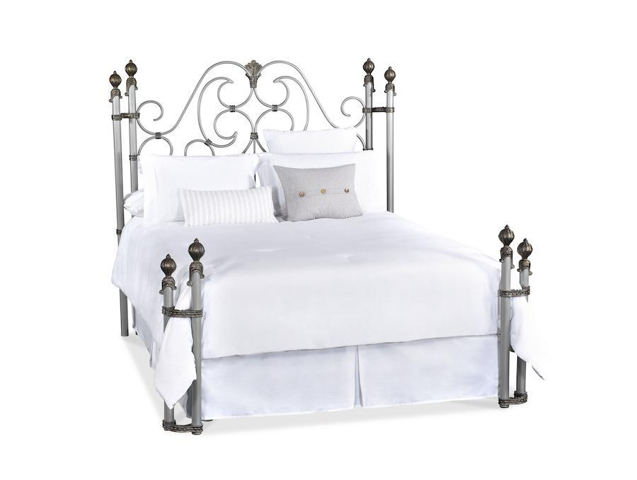 The Wesley Allen Aberdeen Iron Bed at Luxurious Beds and Linens featured in Aged Nickel .