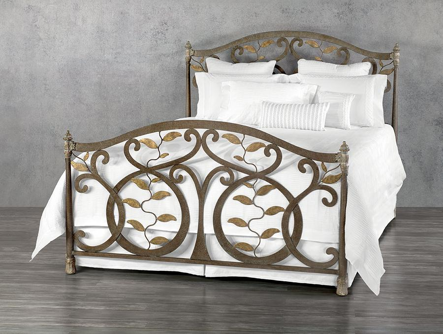 Beds - WESLEY ALLEN LAUREL IRON BED