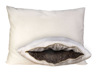 Buckwheat Pillow - Wool-Wrapped Organic Pillow Buckwheat-Hull Pillow