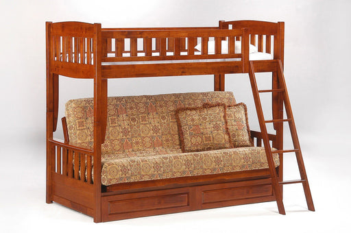 Bunk Beds - Cinnamon Futon Bunk Bed