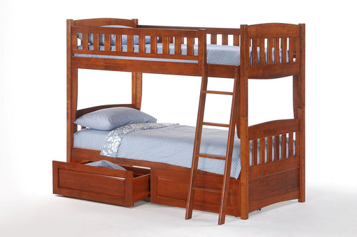 Bunk Beds - Cinnamon Twin Twin Bunk Bed