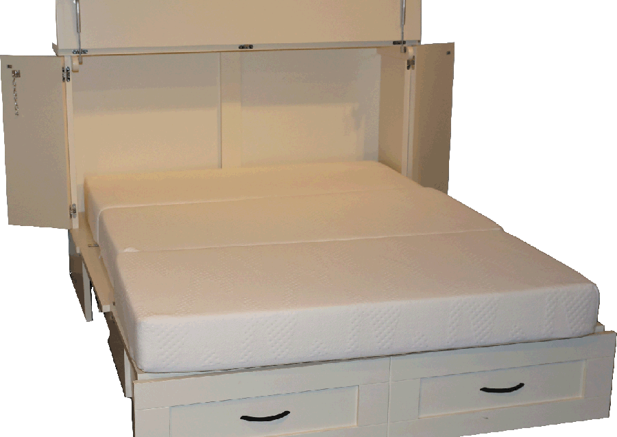 Murphy Beds - Country Cottage Cabinet Bed With Mattress