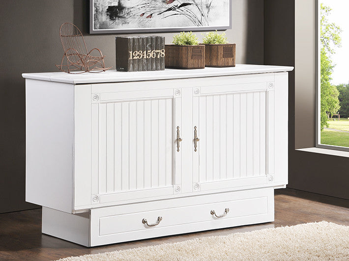 sleep chest cottage murphy bed | white or black - luxurious beds