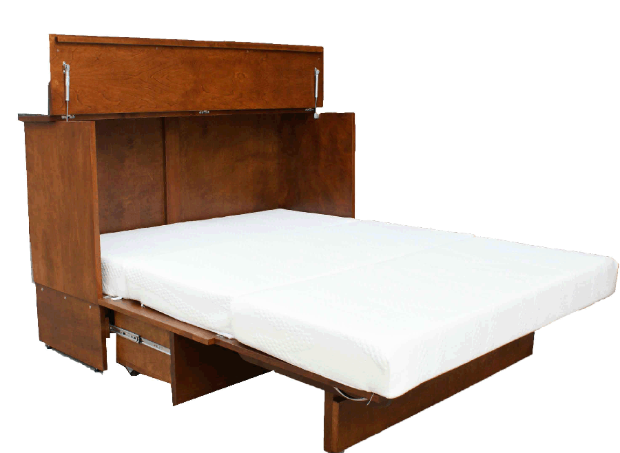 Murphy Beds - Stanley Cabinet Bed With Mattress