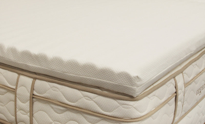 OMI Wave Organic Latex Mattress Topper - Luxurious Beds and Linens