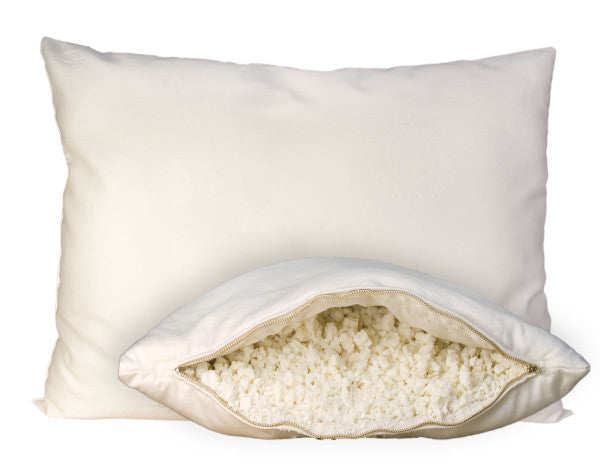 OMI Organic Shredded Rubber Pillow With Wool - Luxurious Beds and Linens