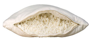 Wool-Wrapped 100% Natural Shredded Rubber Pillow - Wool-Wrapped Shredded Rubber Pillow